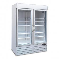 Vitrina frigorifica Tecfrigo POLO 900 BTV SPOT, cu caseta luminoasa, 2 usi, capacitate 1078L, temperatura -18/-24°C, alb