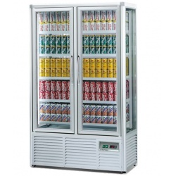 Vitrina frigorifica bauturi Tecfrigo DRINK 560 G, 2 usi, capacitate 560L, temperatura +5/+10°C, argintiu