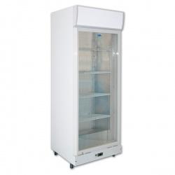 Vitrina frigorifica bauturi Tecfrigo C 600 GC, cu caseta luminoasa, capacitate 480 L, temperatura +3/+10º C, alb