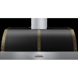 Hota perete Superiore HD48PBTNB DECO 48 ,1 motor, 900 m3/h, panou sticla neagra si inox