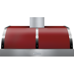 Hota perete Superiore HD48PBTRC DECO 48 ,1 motor, 900 m3/h, cotrol electronic rosu mat cu finisaje crom