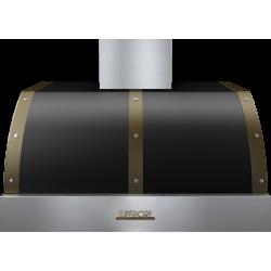 Hota perete Superiore HD36PBTNB DECO 36 ,1 motor, 900 m3/h, cotrol electronic negru mat cu finisaje bronz