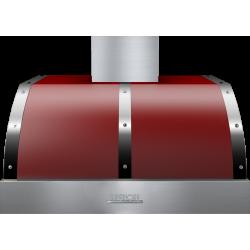 Hota perete Superiore HD36PBTRC DECO 36 ,1 motor, 900 m3/h, cotrol electronic rosu mat cu finisaje crom