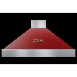 Hota decorativa Tecnogas DECO CD312RO , 1 motor, 850 m3 / h, rosu mat cu finisaje gold